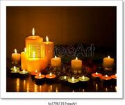 Spa With Candle Lights Art Print / Canvas Print. Poster Wall Art Home Decor