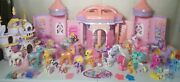 Vintage Castle And Modern House My Little Pony Ponies Lot Of 58 +6 Fre Bonus Items