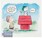 Peanuts The Flying Ace Linus And Snoopy Signed Charles Schulz Limited Ed Print
