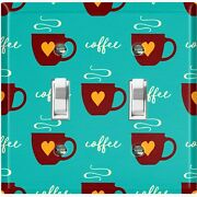 Metal Light Switch Cover Wall Plate For Kitchen Coffee Cup Mocha Lover Cof060