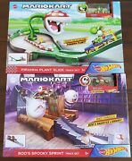 Hot Wheels Mario Kart Piranha Plant Slide And Booand039s Spooky Sprint Track Lot