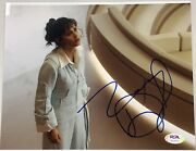 Zooey Deschanel Signed Photo 8x10 Autograph New Girl Full Name Sig Psa/dna