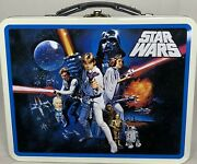 New Williams Sonoma Star Wars Metal Lunch Box W/ 2 Sandwich Cutters Gift P