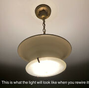 Antique Barn Find Duplexalite 1920s Light Fixture From Kings Park State Hospital