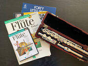 Flute With Solid Silver Head Joint 16 Keys Closed Hole Flute With Beginner Books