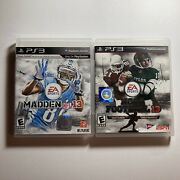 Playstation 3 Ps3 Lot Of 2 Video Games Ncaa Football 13 Madden Nfl 13 Tested