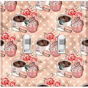 Metal Light Switch Cover Wall Plate For Kitchen Coffee Cupcake Flower Cof127