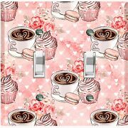 Metal Light Switch Cover Wall Plate For Kitchen Coffee Cupcake Flower Cof128