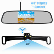 Car Hd Wireless Backup Reverse Camera System With 4.3'' Monitor 170° Wide Angle