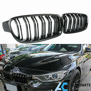 Front Kidney Grill Grille For 12-18 Bmw F30 330i 328i Gloss Black
