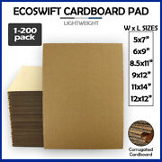 Corrugated Cardboard Pads Sheets Inserts For Shipping Scrapbook 23 Ect 1/8 More