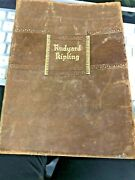 Old Leather Bound The Works Of Rudyard Kipling One Volume Book Rare