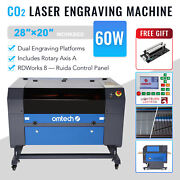 Omtech Upgraded 60w 28x20 Co2 Laser Engraver Cutter With Rotary Axis Ruida