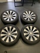 Tesla 20 Model X Staggered Slipstream Oem Factory Wheels X4 Tires On 4