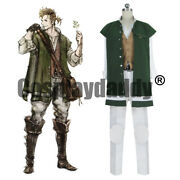 Octopath Traveler Apothecary Alfyn Greengrass Outfit Game Cosplay Costume S002