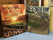 2 Football Books, One Hundred Years Of Notre Dame Football By Gene Schoor + 1