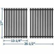 2 Porcelain Steel 17 Inch Grill Grates Bbq Grid Barbecue Cooking Parts Ss-kw011