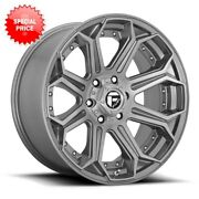 Fuel D705 Siege 22x10 8x165.1 Et-18 Brushed Gunmetal Tinted Clear Qty Of 4