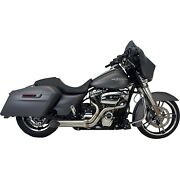 Supertrapp - 135-71870 - Bootlegger 2-into-1 Exhaust System Harley-davidson Road