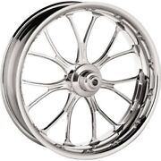 P.m. Front Forged Wheel Dual Disc 21x3.5 Chrome Heathen 2014-up Harley W/abs