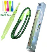 Sultanii 64 Ice Hose Silicone Hookah Hose Compatible+10 Mouth Tips Set Green