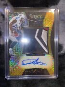 Derrick Henry 2016 Select Gold Prizm Refractor Auto Logo Patch Rookie Card 3/10