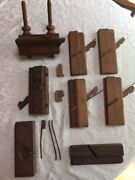 Antique Woodworking Moulding Tools- 13 Piece Collection Original Condition