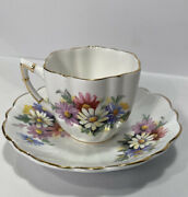 Royal Victoria Fine Bone China Tea Cup And Saucer Floral Carnations