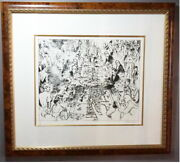 Signed Leroy Neiman 1980 Limited Ed Game Of Life Roulette Table Serigraph Framed