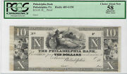 10 18__ Proof Philadelphia Bank Pa Choice About New 58 Apparent Pcgs Currency