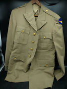 Hart Schaffner And Marx Wwii Us Army Air Corp Force Officer's Jacket Khaki G4