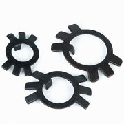 M10-m60 Black Zinc Plated Steel Lock Stop Washer For Round Studding Nuts