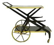Small Table Cart Bar Cart Design Cesare Lacca Years 60 Brass And Wood Trolley