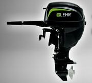 9.9 Hp Lehr Outboard Motor With 31lb Liquid Draw Composite Tank Slightly Used