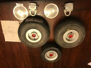 Cleveland Aircraft Wheel Set 199-156 With Brakes, Nose Wheel And Tires - Glastar