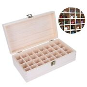 Wooden Essential Oil Storage Container Nail Gel Display Box Makeup Case 32 Grids