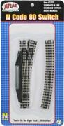 Atlas 2703 N Scale - Code 80 - Right Manual Switch - Black Ties Nickle Silver