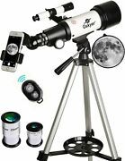 Astronomical Telescope 70mm Aperture 300mm Focal Length On Tripod For Camping