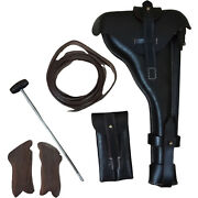 Artillery Luger P08 Holster 8 Barrel W/cleaning Rod+take Tool And Grips-repro Fm0