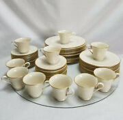 Lenox China Special Ivory Gold Edge Trim Dinner Cups Saucers Salad Bread Plates