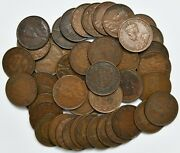 Lot Of 46 King George V Canada Large Cents Km 21