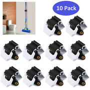 10pcs Mop And Broom Holder Wall Mounted Storage Home Garden Rack Hanger Clip Us
