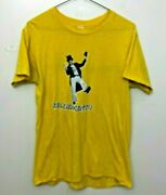 Dr. Demento Stay Demented Vintage Tee Shirt Large Pre Owned 80's Yellow/gold