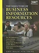 Directory Of Business Information Resources, 2007