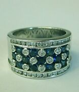 Sapphire And Diamond Ring 18kt White Gold 1.00cttw Model 999-122