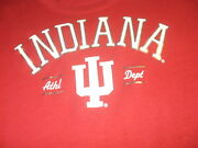 Indiana Hoosiers Lady Pro Edge Athl Dept Red Silver Glitter Nice Team Logo Nwt