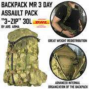 Tactical Backpack Mr 3 Day Assault Pack Tri-zip 30l