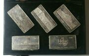 From Out Of The West Vintage Wh Foster 3 Oz 999 Silver Mining Bullion Bars Set
