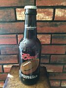 Nfl Promotional Glass Budweiser King Pitcher Beer Bottle Because It's Football