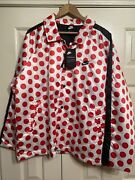Nike Jdi Synthetic-fill Jacket Bv5539 Red Polka Dot Just Do It Msrp 135 L
